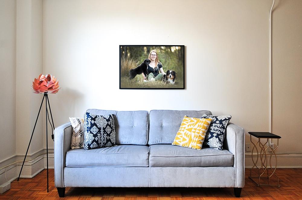 Wandbild mit Rahmen Wohnzimmer